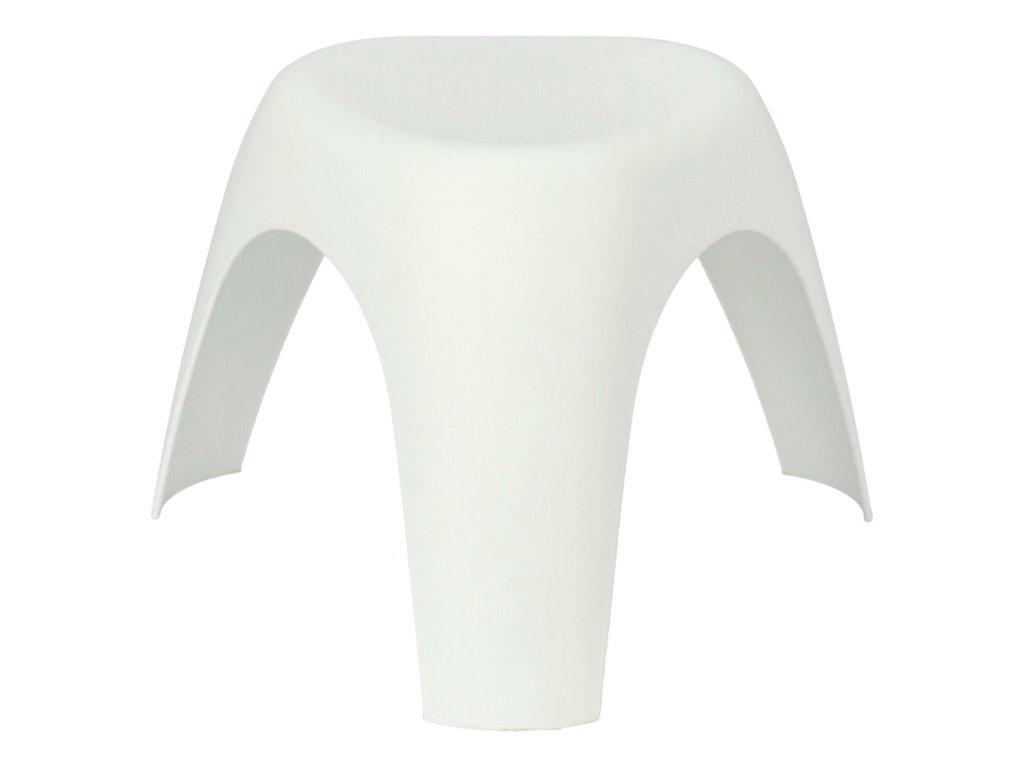 Bílá plastová stolička Elephant 37 cm
