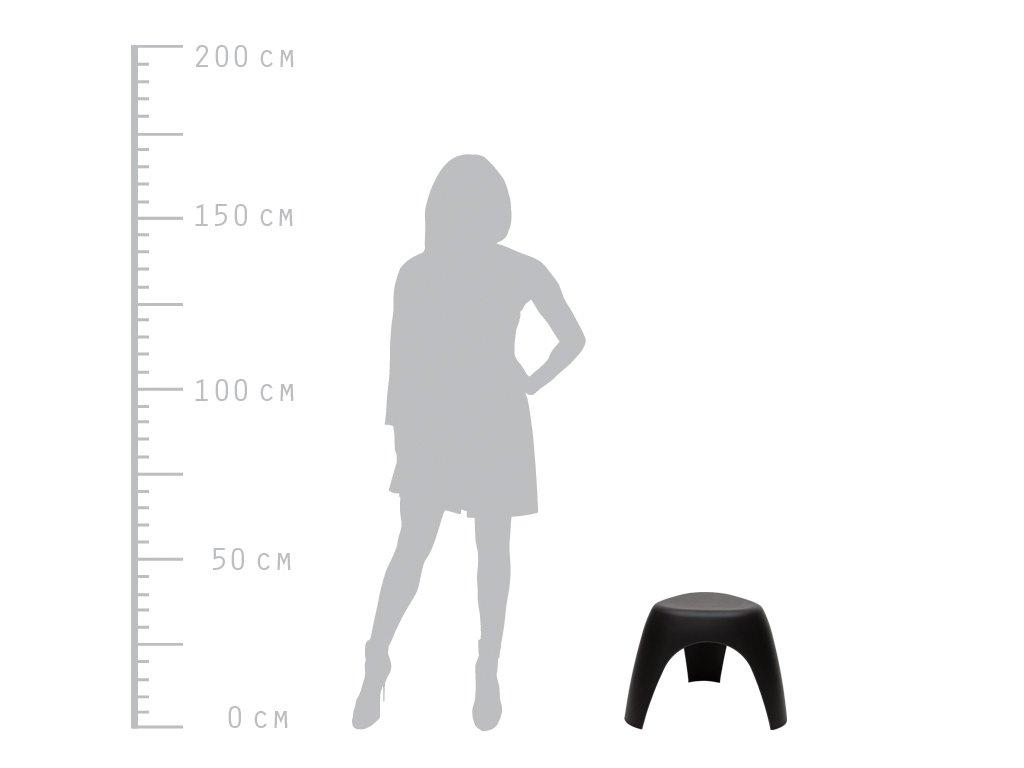 Designová černá stolička Elephant z plastu