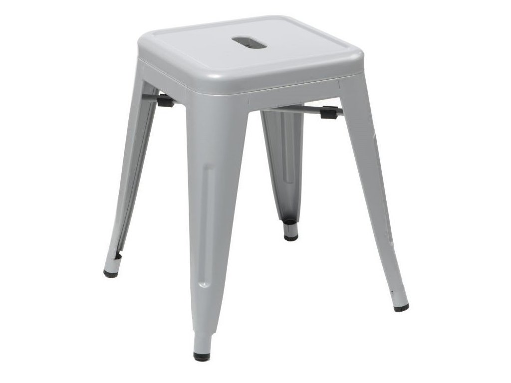 Šedá celokovová stolička Tolix 46