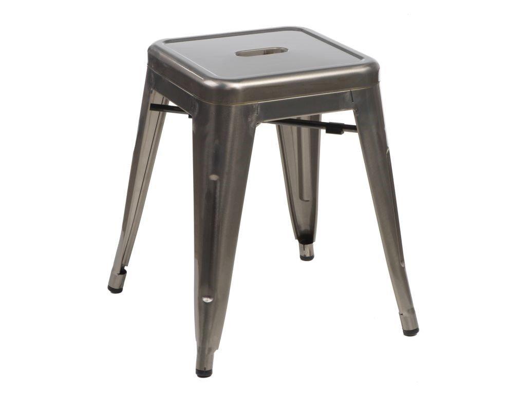 Metalická celokovová stolička Tolix 46