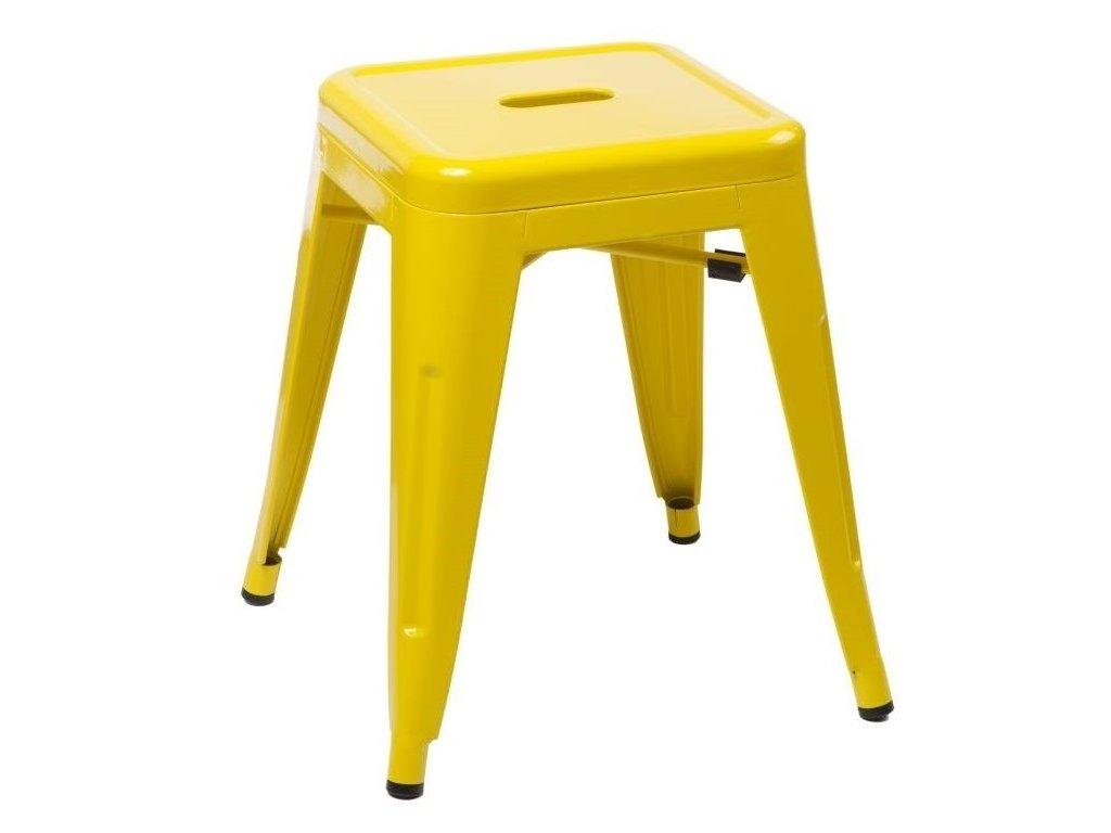 Žlutá kovová stolička Tolix 45 cm