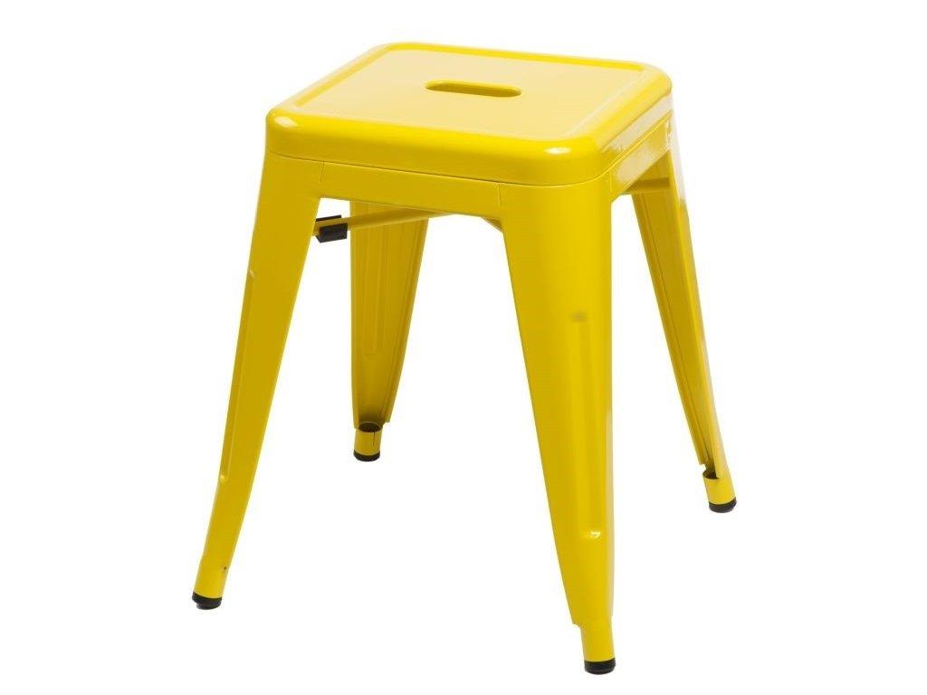 Žlutá celokovová stolička Tolix 46