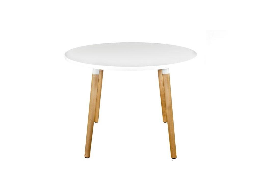 Jídelní stůl Berg průměr 100 cm, bílá