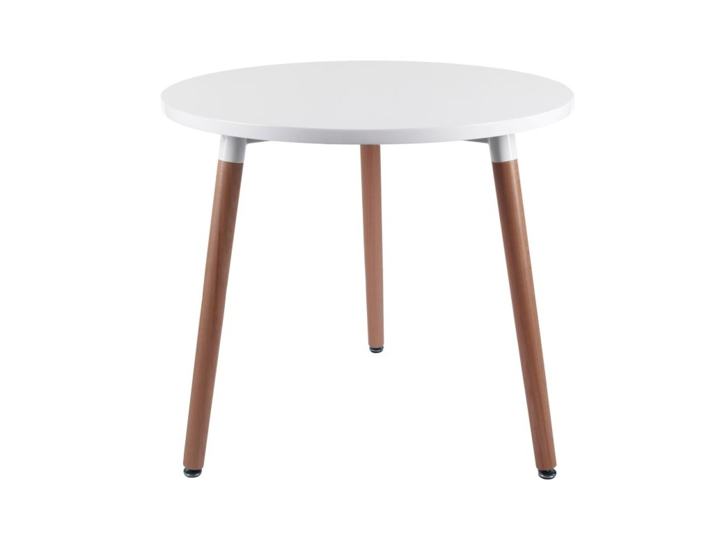 Jídelní stůl Berg průměr 80 cm, bílá