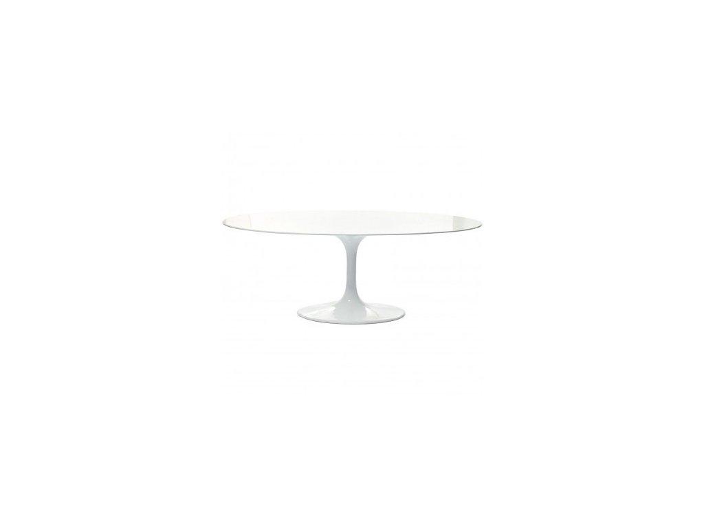 Designový bílý oválný jídelní stůl Tulip 200x120
