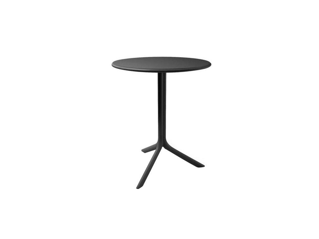 Antracitový designový stůl Loft Coffee 61 cm