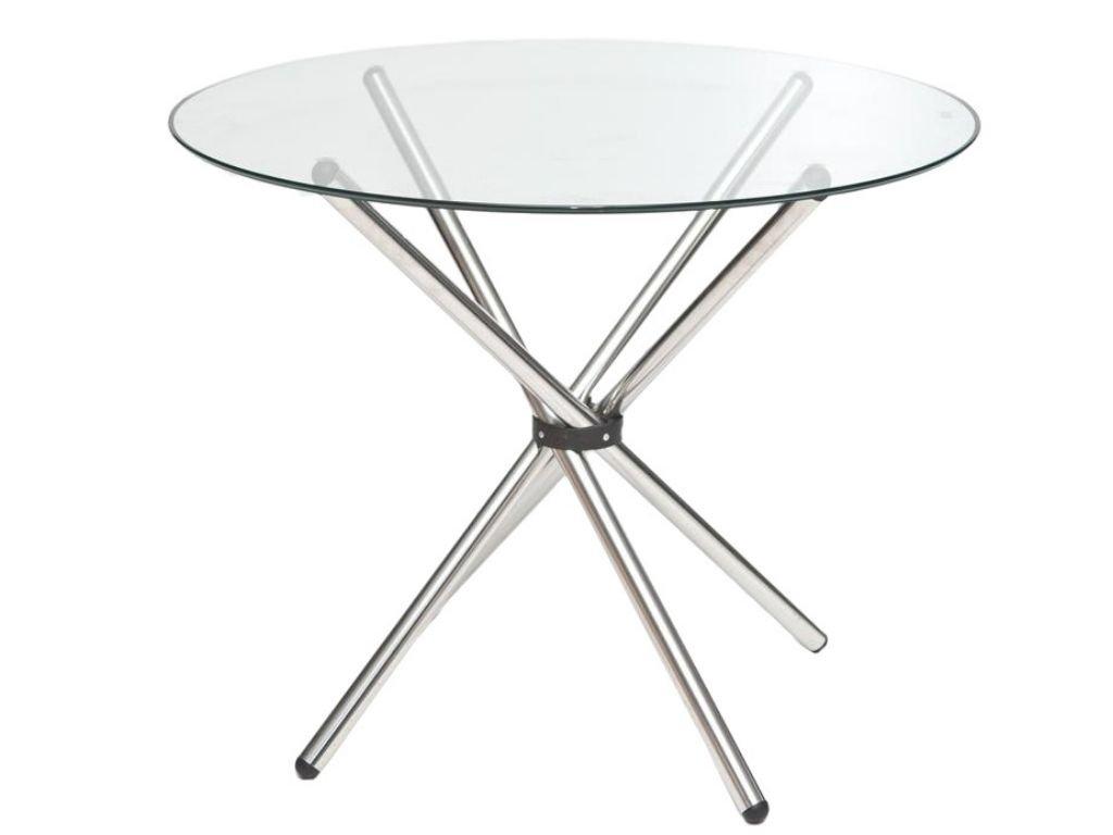 Kulatý skleněný jídelní stůl Ufo 90 cm
