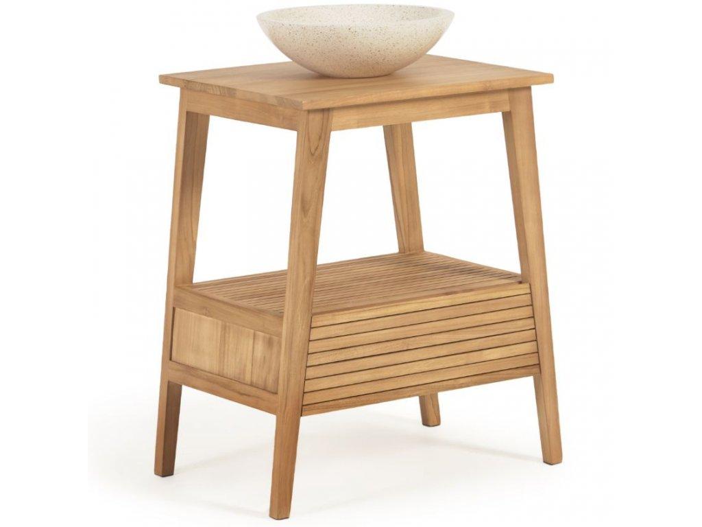 Teakový koupelnový stolek LaForma Sunday 70 x 50 cm