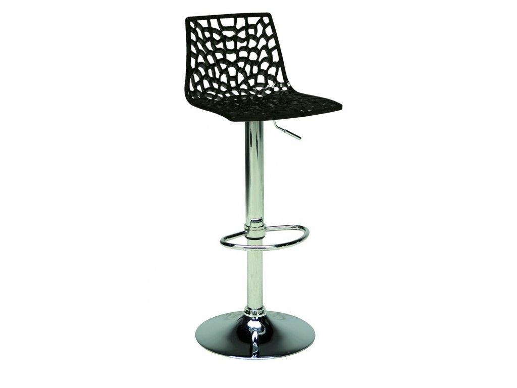 Černá plastová barová židle Coral