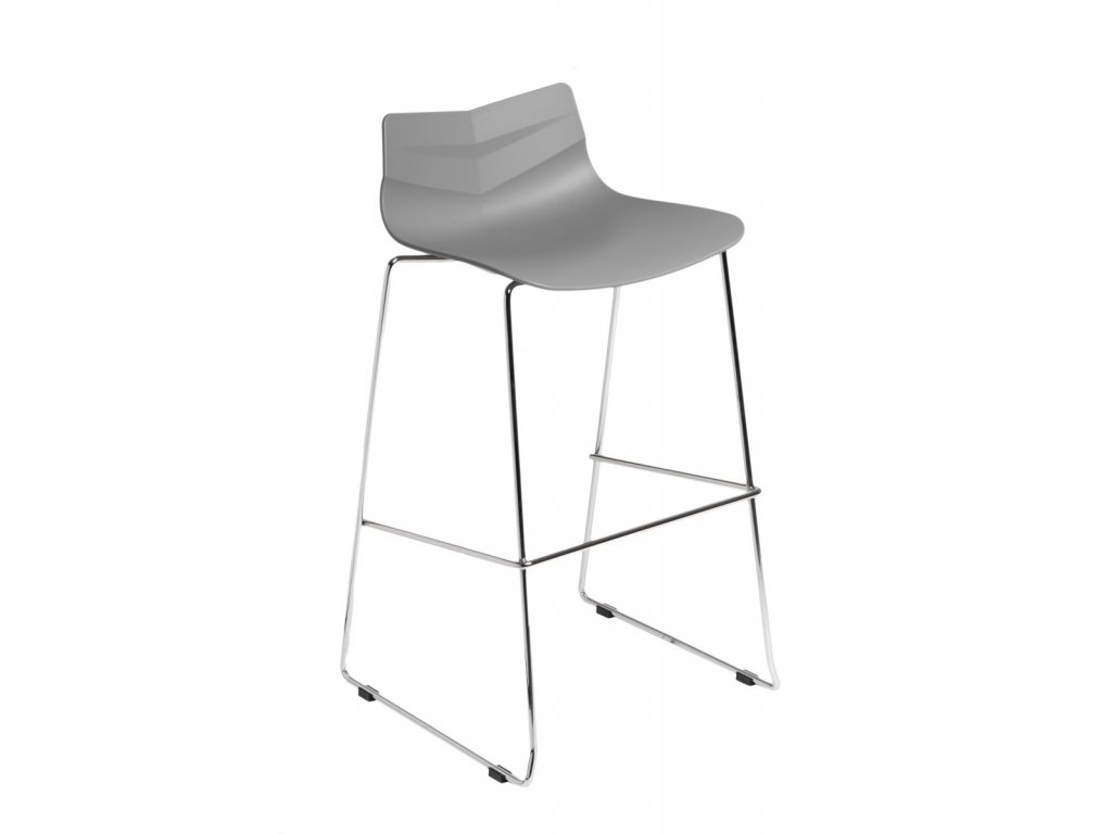Designová barová židle Sheet šedé barvy