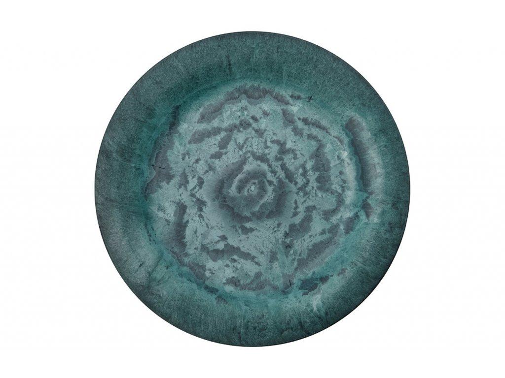 Zelený talíř Serveur ⌀ 24,4 cm
