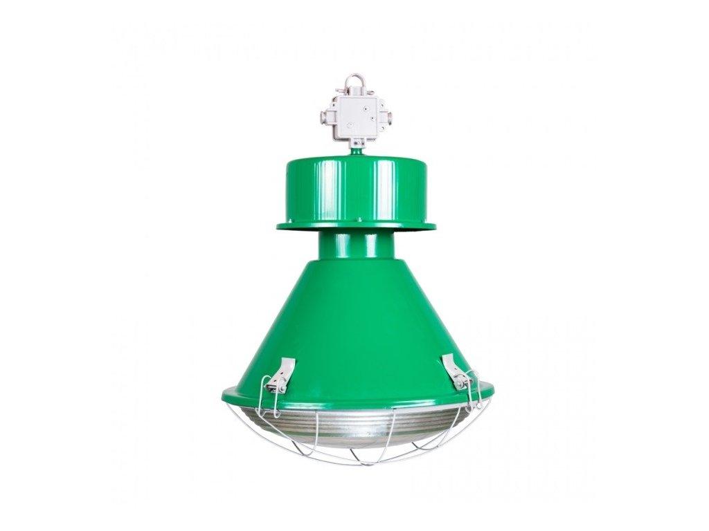 Designové zelené závěsné světlo Saturnia 50 cm