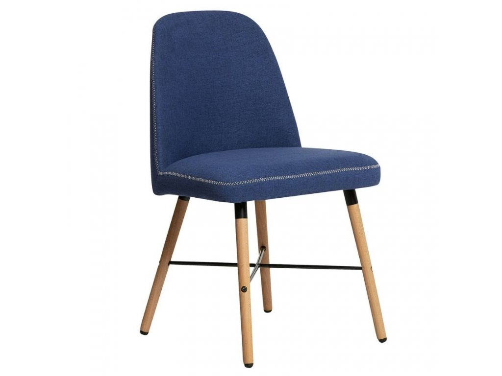 Modrá látková jídelní židle Marckeric Cancun