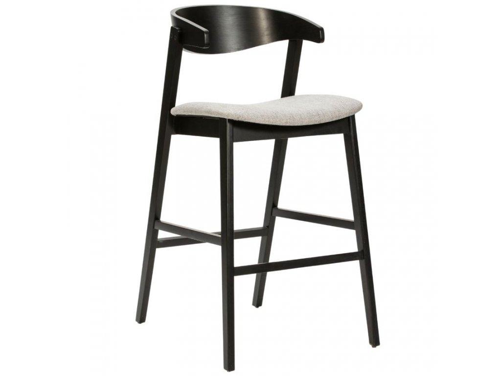 Černá dřevěná barová židle Marckeric Divo 70 cm