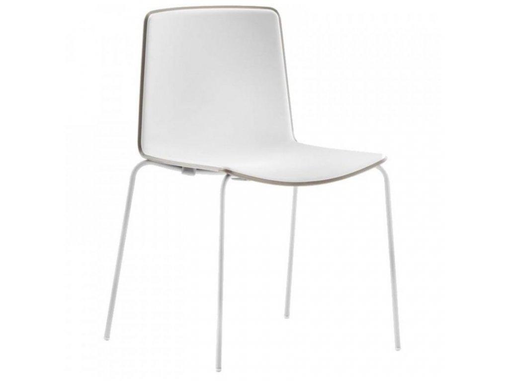 Bílá plastová jídelní židle Tweet 890