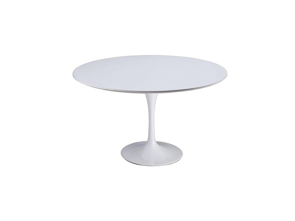 Designový bílý kulatý jídelní stůl Tulip 120 cm