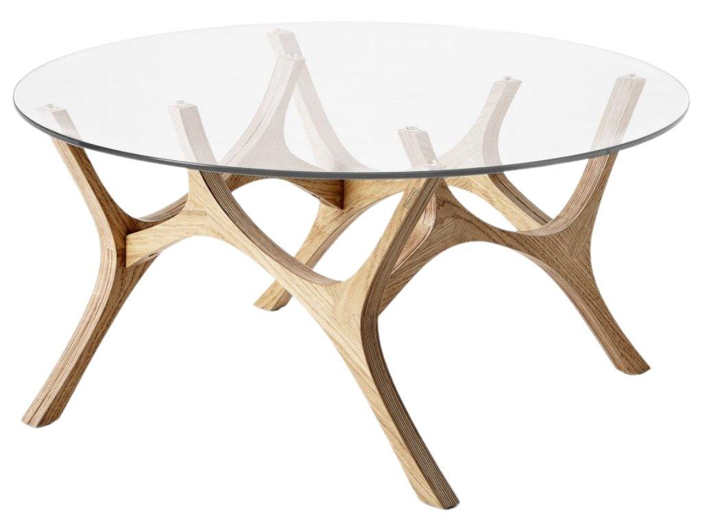 Dubový konferenční stolek Tabanda Moose 79 cm