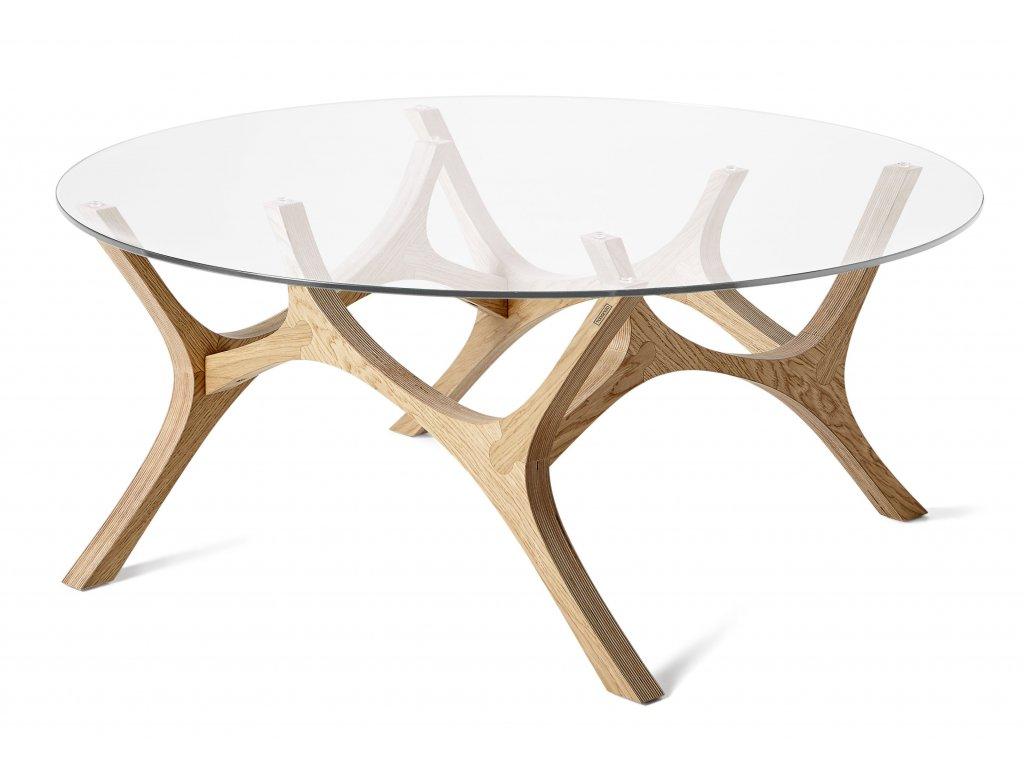 Dubový konferenční stolek Tabanda Moose 99 cm