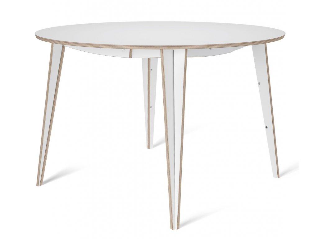 Bílý kulatý jídelní stůl Tabanda ROUND MACIEK 120 cm