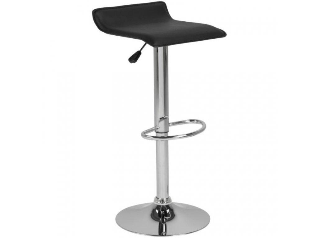 Černá koženková barová židle Dany