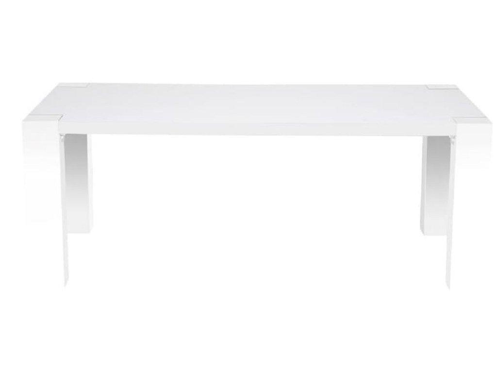 Bílý jídelní stůl Swing 180 cm, lakované MDF