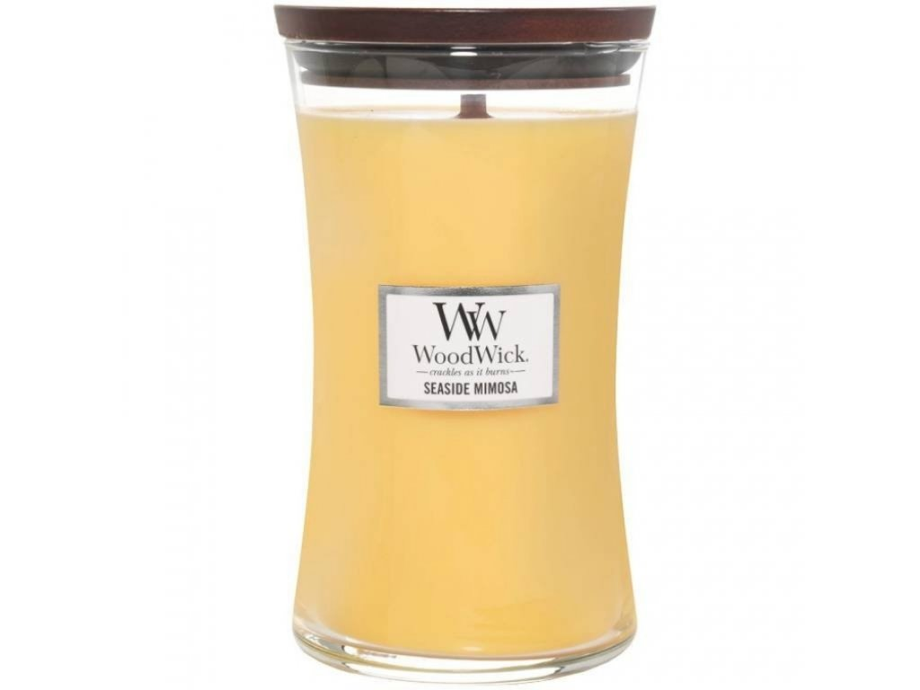 Velká vonná svíčka Woodwick, Seaside Mimosa