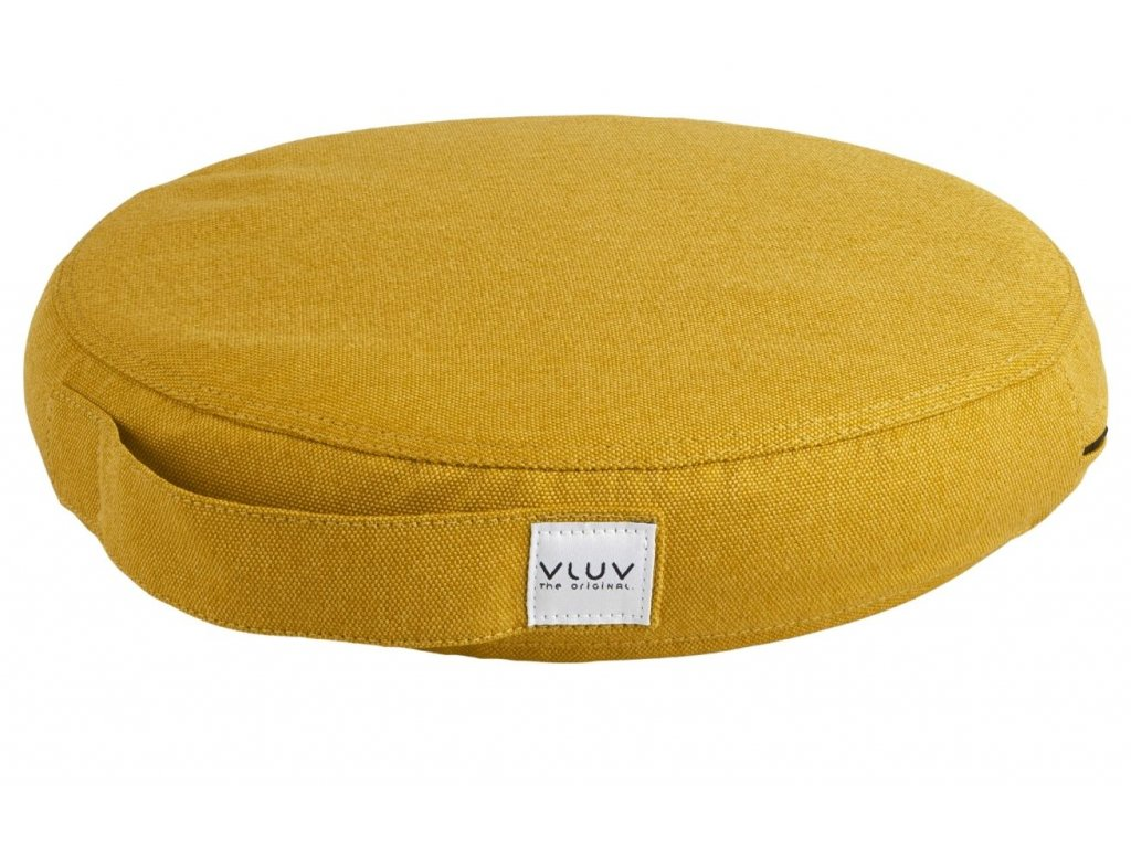 Hořčicově žlutý balanční polštář VLUV PIL & PED LEIV 36 cm