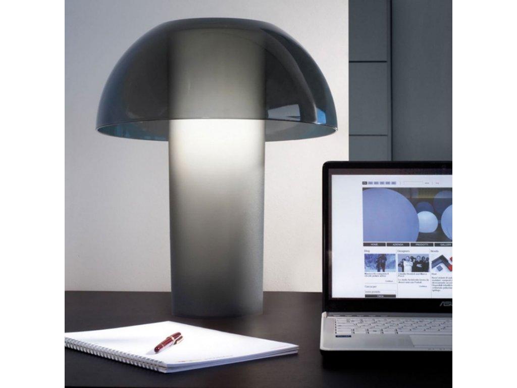 Černá plastová stolní lampa Pedrali L003TB