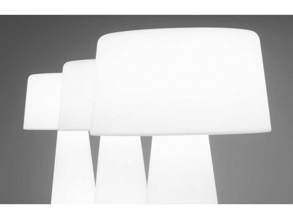 Bílá plastová zahradní lampa Pedrali TIME OUT
