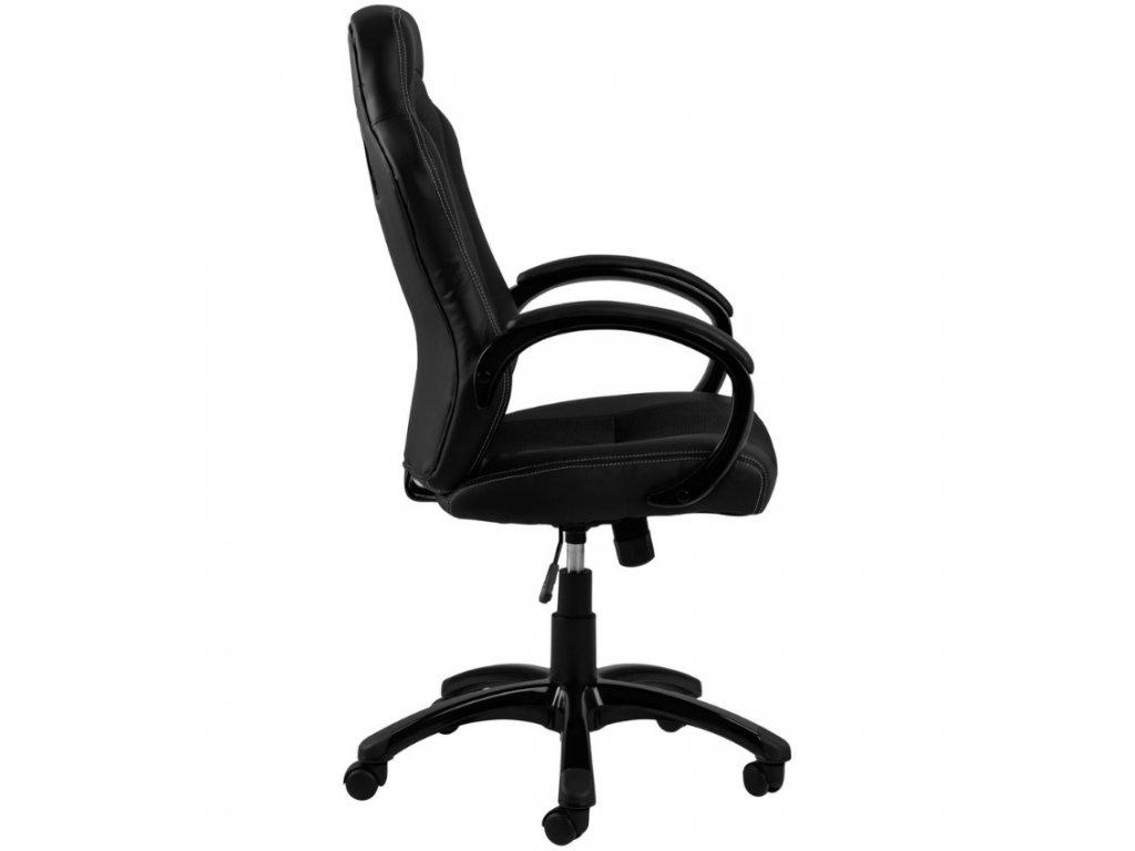 Černé kancelářské křeslo Gasol z ekokůže, ekokůže, látka, černá nylonová kolečka