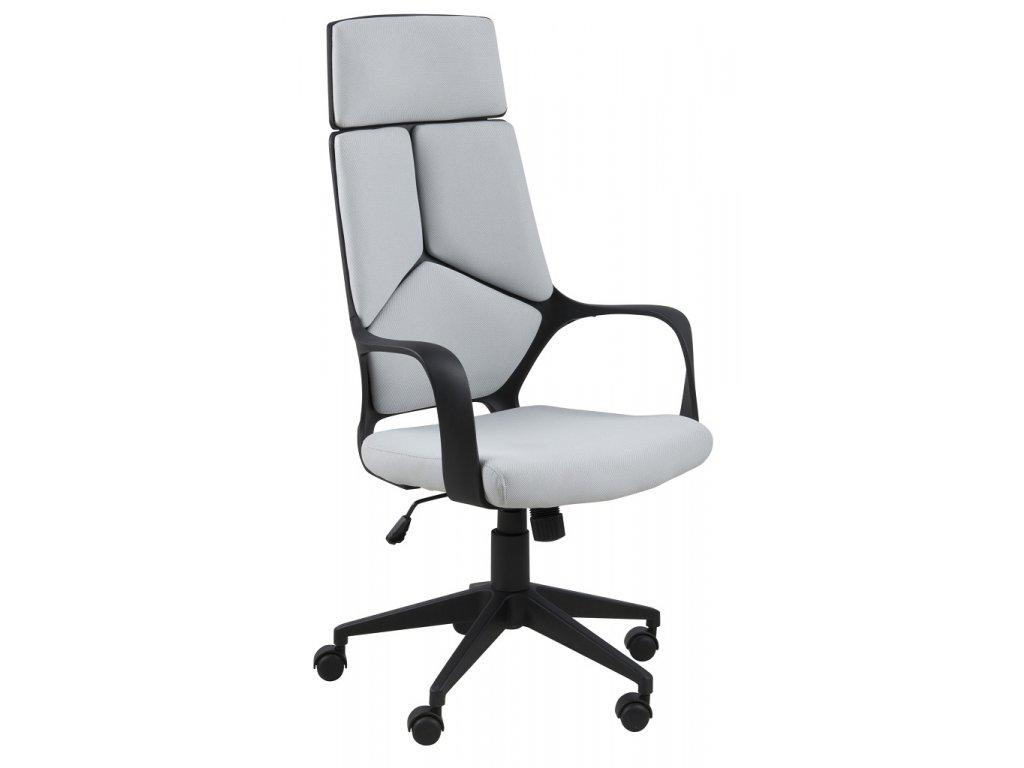 Šedé látkové kancelářské křeslo Office, textil 100% polyester, černý nylon