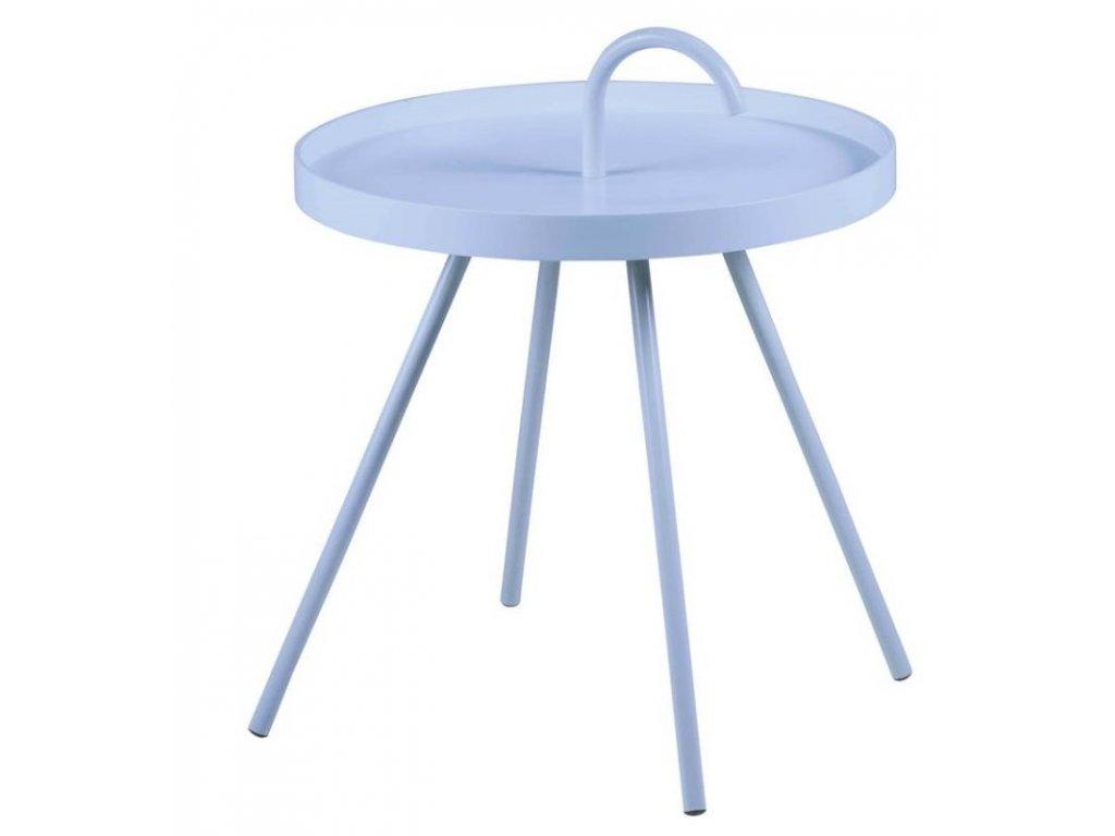 Světle modrý kovový odkládací stolek Mikky 51 cm