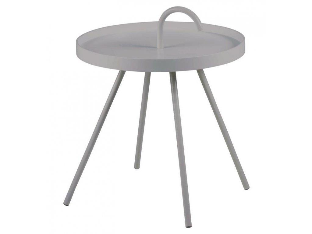 Šedý kovový odkládací stolek Mikky 51 cm s držadlem