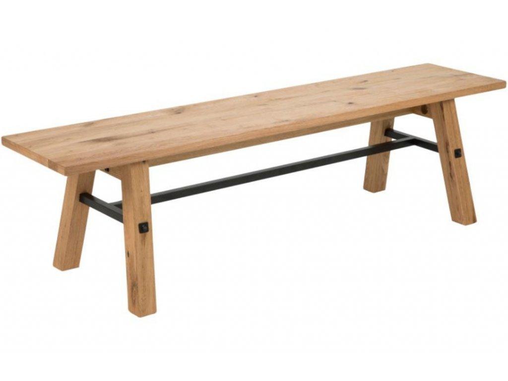 Přírodní dubová jídelní lavice Kiruna 170 cm