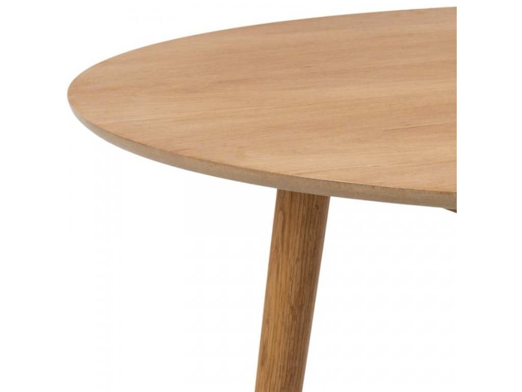 Přírodní dubový jídelní stůl Nagy 120 cm,dubová dýha, MDF, dubové dřevo