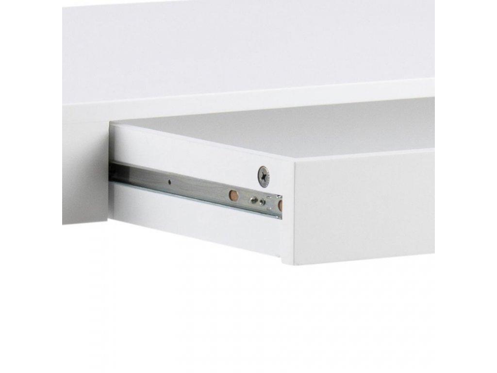 Bílý barový stůl Helena 120 cm, lakované MDF, dřevo lakované bílým lakem