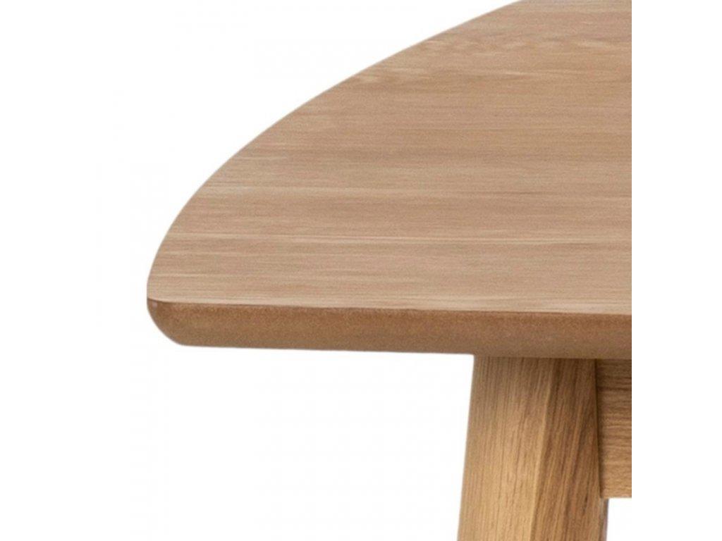 Hnědý dubový jídelní stůl Nagy 180 cm, dubová dýha, MDF, masivní dubové dřevo