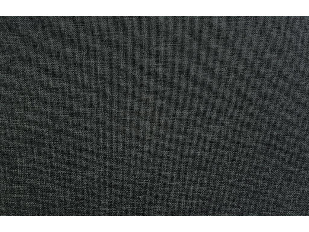 Tmavě šedé látkové křeslo Timber s podnožkou, čalounění, chromová podnož, polohovatelné