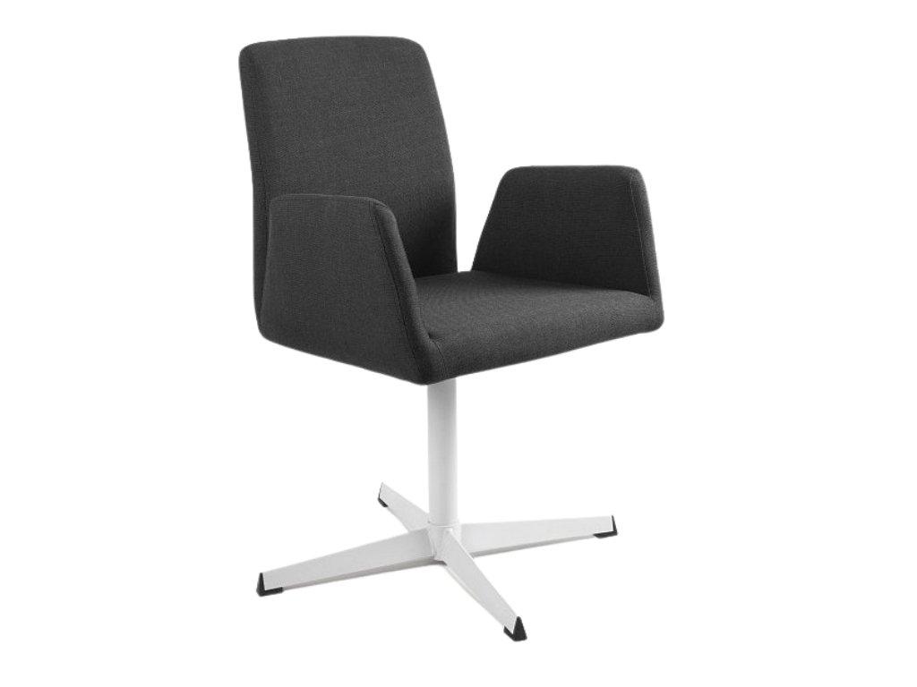 Černá konferenční židle Bela s pevnou kovovou základnou