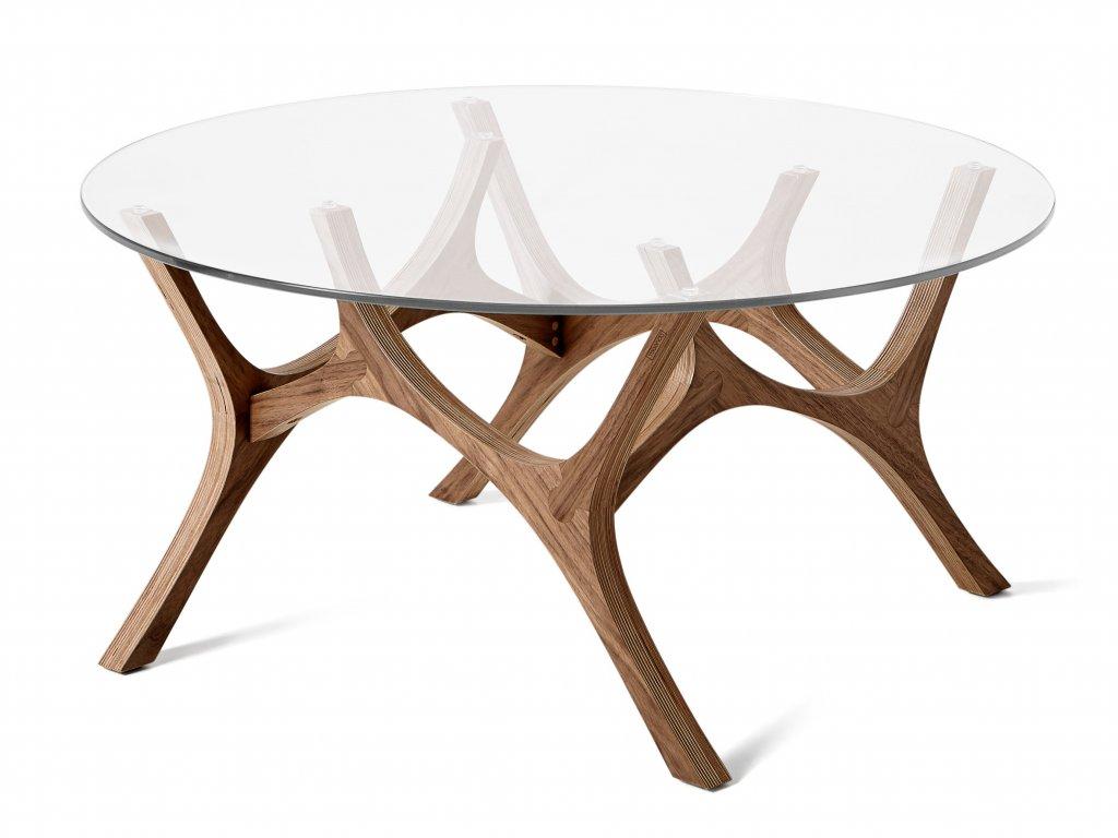 Ořechový konferenční stolek Tabanda Moose 79 cm
