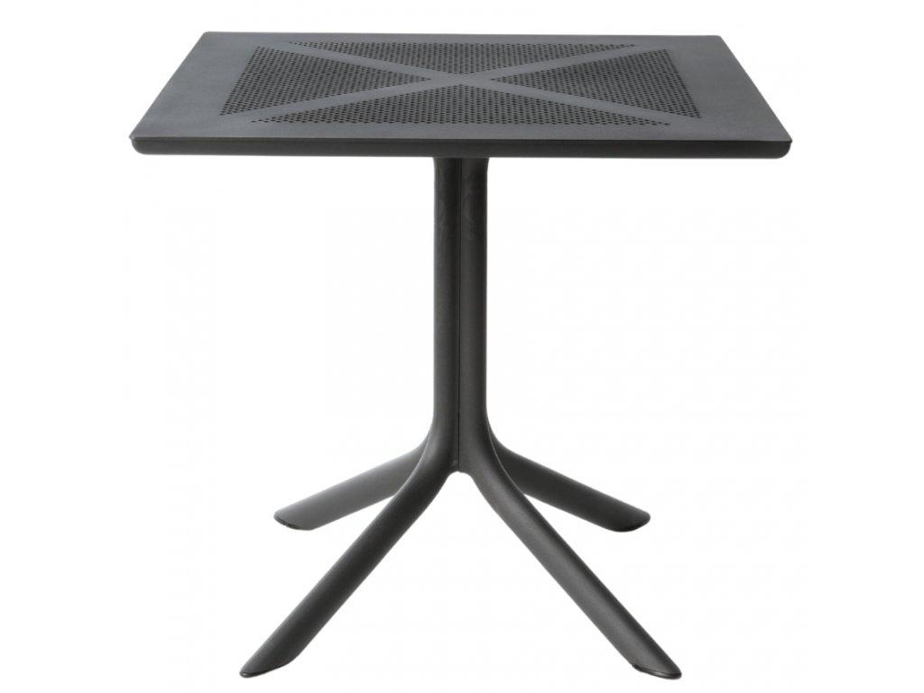 Antracitový plastový stolek Clipx Coffee 80 cm