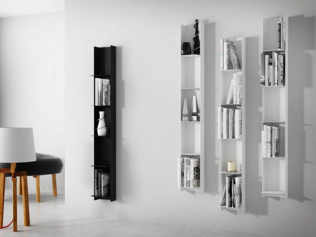 Designová knihovna Marina, bílá