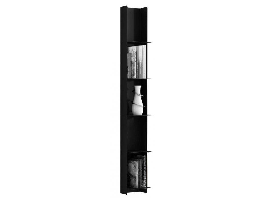 Černá designová kovová knihovna Marina