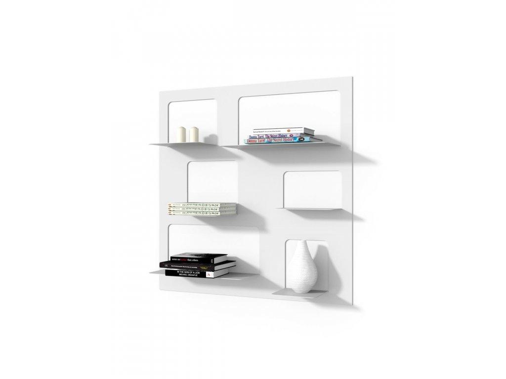 Designová knihovna Marina 3, bílá