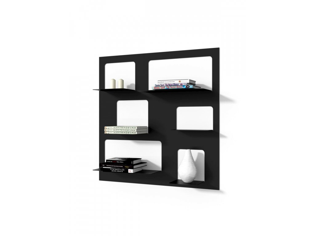 Designová knihovna Marina 3, černá