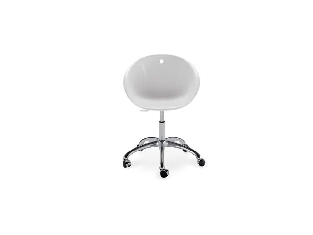 Světlá plastová konferenční židle Gliss 960