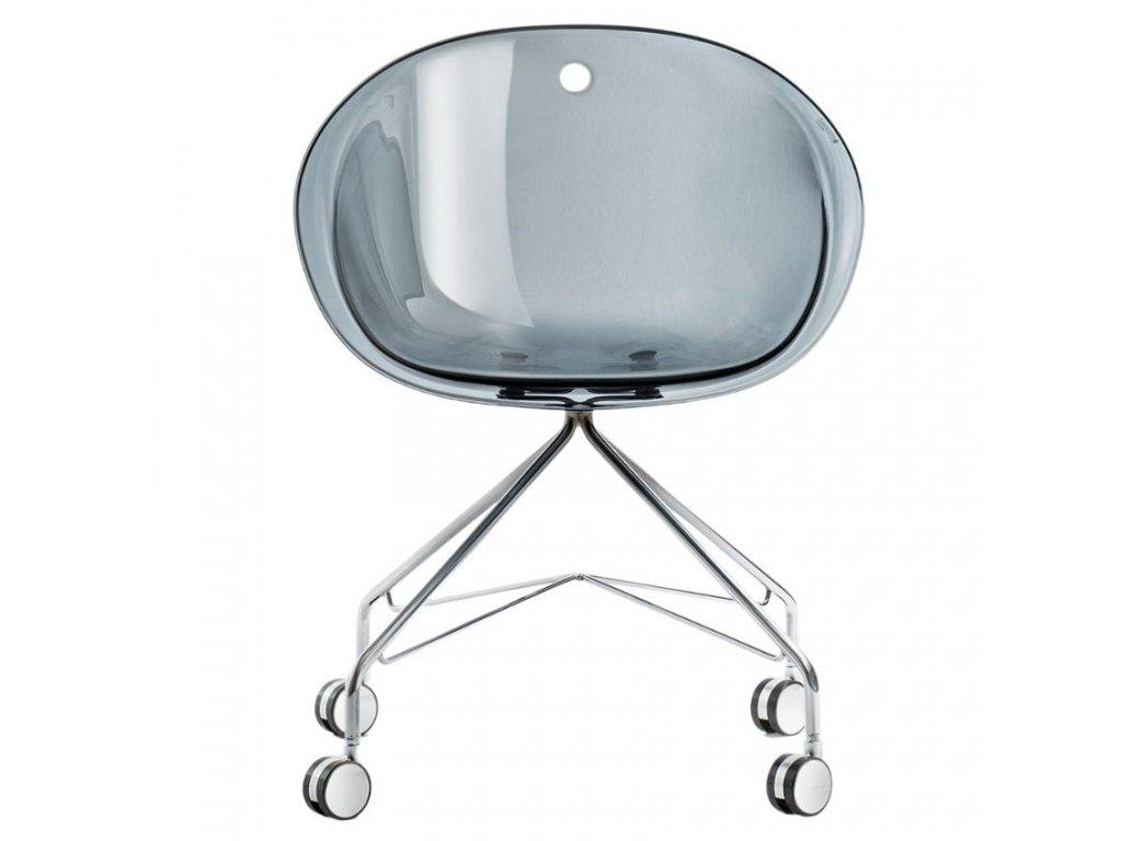 Barevná plastová konferenční židle Gliss 968