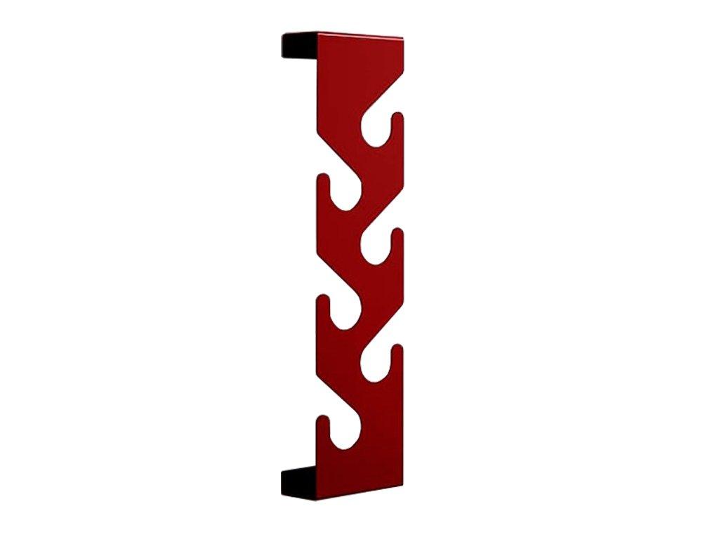 Červený kovový nástěnný věšák Montoro lakovaný