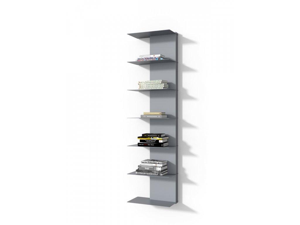 Designová knihovna Marina 2, šedá