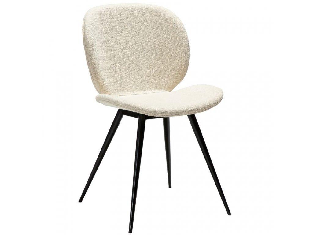 Krémově bílá látková jídelní židle DanForm Cloud
